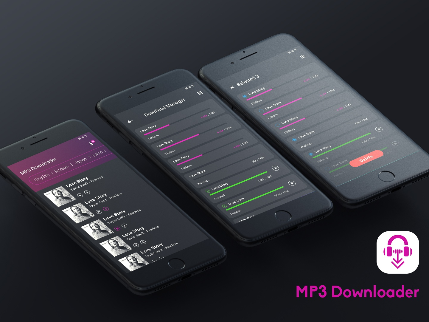 UI Design - MP3 Downloader ue ui clean app clean app logo design