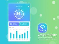 App UI Design-Weight Note
