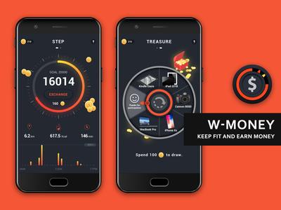 App UI Design - W-MONEY