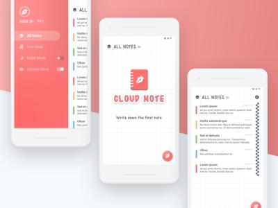 App UI Design - Cloud Note
