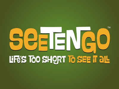 Seetengo iphone seetengo orange white iphone app branding marketing typography green app logo