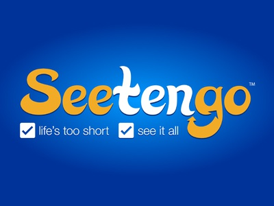 Seetengo Logo V2 logo blue orange iphone app logo brand branding clean simple travel app logo