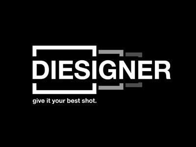 Logo concept for Diesigner logo black white concept idea mockup brand branding marketing