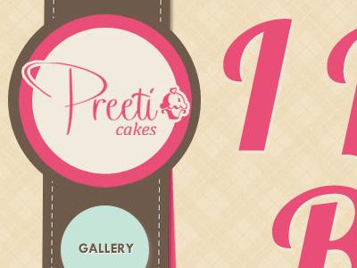 One-page cake / cupcake website mockup mockup cupcake clean sleek simple subtle texture pink blue brown fresh friendly warm