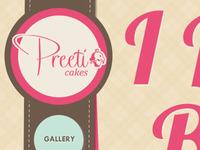 One-page cake / cupcake website mockup