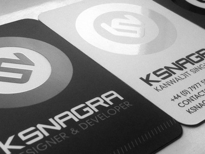 My Brand New Spot Uv Die Cut Business Cards By Kam Nagra Dribbble