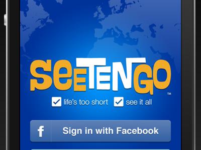 WIP Seetengo iPhone app sign-up view iphone app app iphone blue orange travel travel app