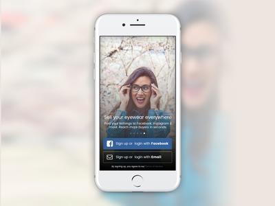 App Login Screen Design
