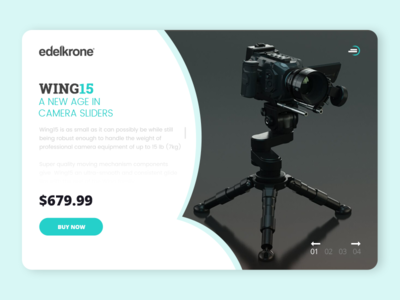 Edelkrone Wing15 Product Page Design