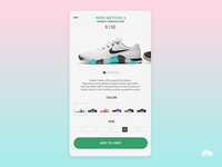 Nike App Product Page Concept Design