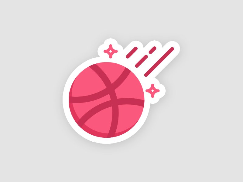 Playoff! Sticker Mule Dribbble ball flat icon sticker playoff stickermule dribbble