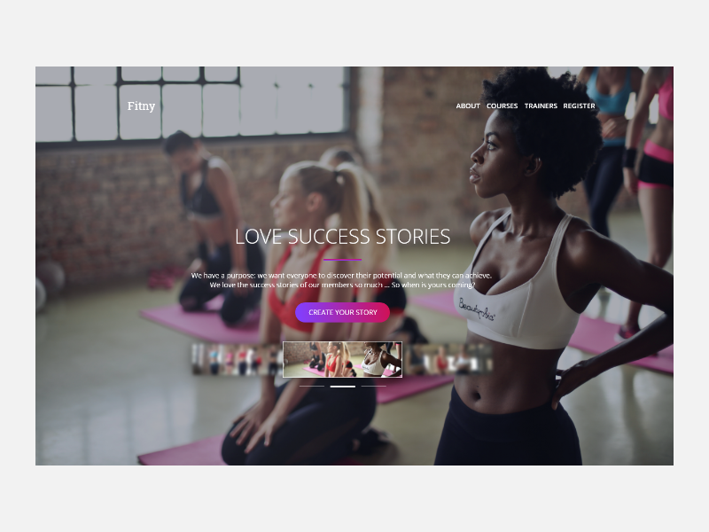 Fitny Fitness Club Web project responsive flat sport well fitness fit website web ux ui