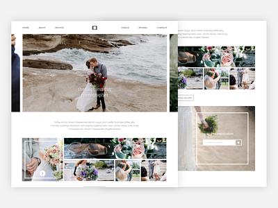 Felis Photography Studio Web Interface photography studio grid flat responsive bridegroom bride couple wedding web ux ui