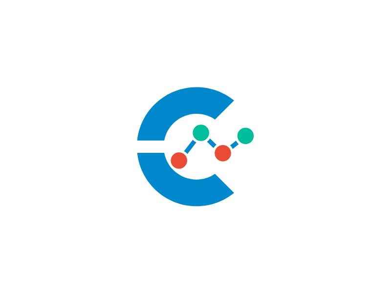Coinfono New Icon brand cryptocurrency bitcoin signal logotype logo icon