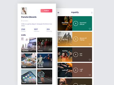 Life Line App - Daily UI Shot mobile app app behance dribbble profile portfolio grid flat responsive ux ui