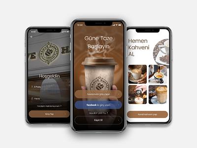 Kahve Hayali Coffee Mobile App order restaurant coffee signup login app ux ui mobile