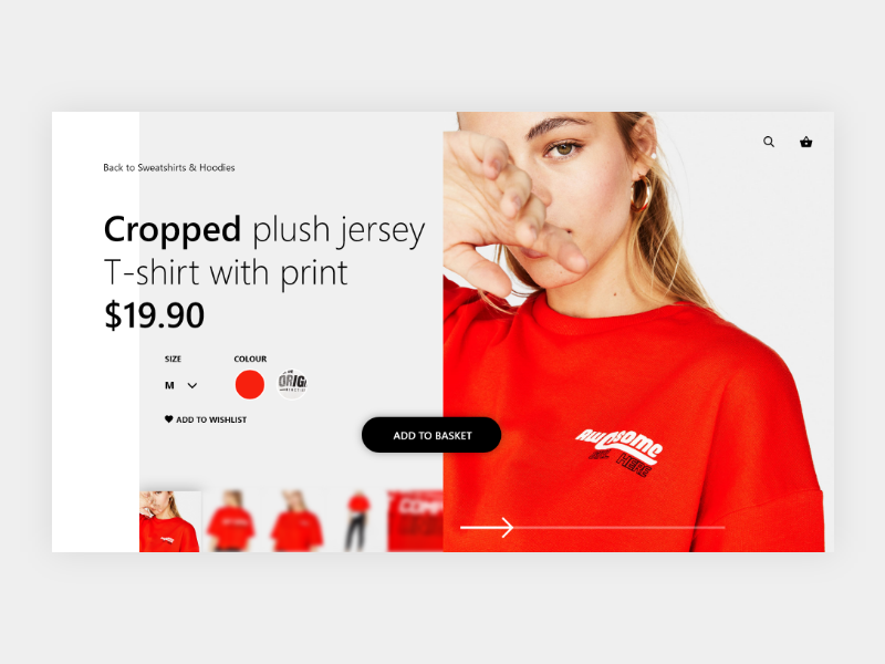 e-Fashion Store Concept shopping shop dribbble design ecommerce store ux ui