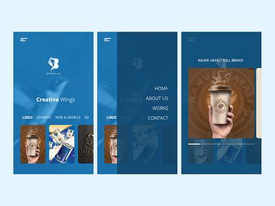 Bird Blue Portfolio App application mobile app portfolio ux ui