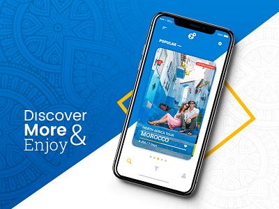 Destination Travel App Concept tourism mobile app destination tour travel ux ui