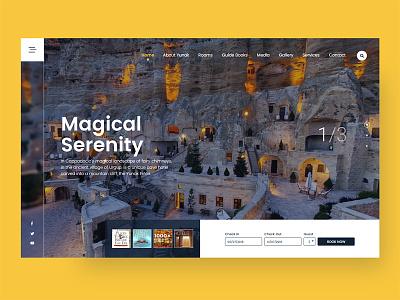 Cappadocia Yunak Hotel Redesign web responsive flat hostel cappadocia tourism tour booking travel hotel ux ui
