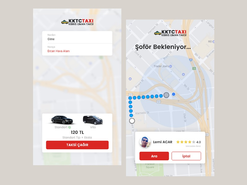 Call The Driver Daily UI android ios mobile automotive car uber driver taxi app ux ui