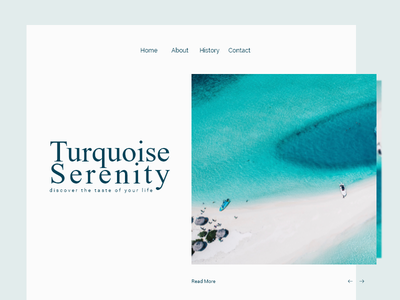Turquoise Serenity ui ux typography web dribbble responsive flat sea layout minimal clean