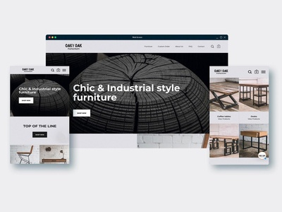 Oaky Oak Furniture - Ecommerce