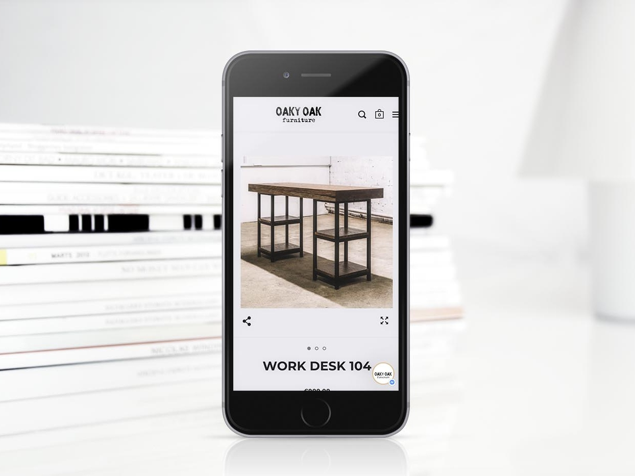 Oaky Oak Furniture - Website brand identity branding shopify laravel full stack web developer web development bold minimal industrialdesign furniture eshop ecommerce design ecommerce web design website design websites webdesign web 9inchideas