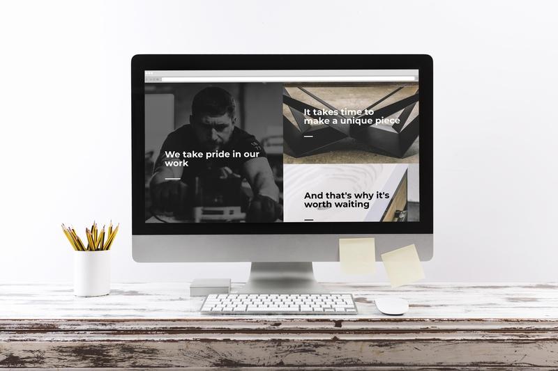Oaky Oak Furniture - Website furniture industrial minimalism web developer website design eshop ecommerce website ecommerce design ecommerce shopify laravel full stack web design and development web design website web minimal graphics brand identity branding