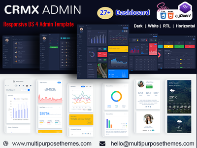 Bootstrap Admin Dashboard Template & User Interface Web app