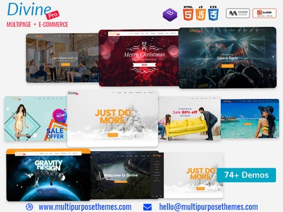 Divine Pro One Page Parallax HTML Template