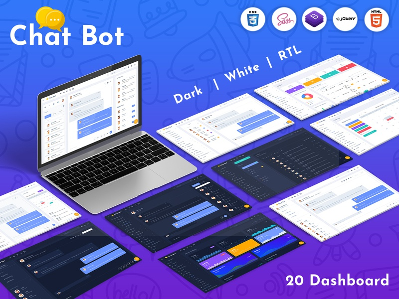 Chat Bot Responsive Bootstrap Admin Dashboard Template Web App template admin bootstrap 4 simple dashboard html template simple bootstrap admin template html admin dashboard chat app bootstrap dashboard best dashboard admin dashboard template