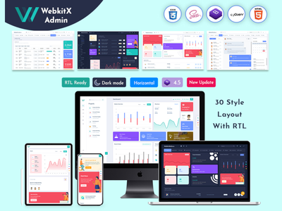 WebkitX Admin - Bootstrap Admin Dashboard Template & User Interf web application design web app design web app web uxdesign ux uiux ui saas interface enterprise ux enterprise app design b2b app animation web design branding product design