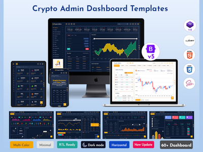 Responsive Cryptocurrency HTML Templates + Bitcoin Dashboards + admin theme admin template admin dashboard admin responsive ico dashboard ico admin dashboard template crypto dashboard cryptocurrency crypto cards bootstrap admin theme bootstrap admin template bootstrap 4 bitcoin illustration product design web design branding
