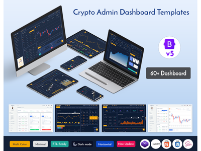 Responsive Cryptocurrency HTML Templates Bitcoin Dashboards ICO branding web design illustration product design ico dashboard ico admin dashboard template cryptocurrency crypto dashboard crypto cards bootstrap admin theme bootstrap admin template bootstrap 4 bitcoin admin theme admin template admin dashboard admin