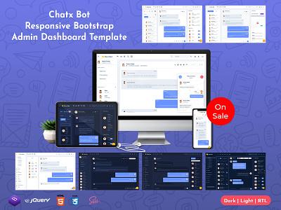 Chat Bot Responsive Bootstrap Admin Dashboard Template web app illustration product design web design