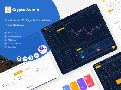 Cryptocurrency HTML Templates Bitcoin Dashboards ICO illustration product design web design