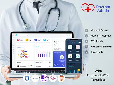 Medical Responsive Bootstrap 5 Admin Template Dashboard data