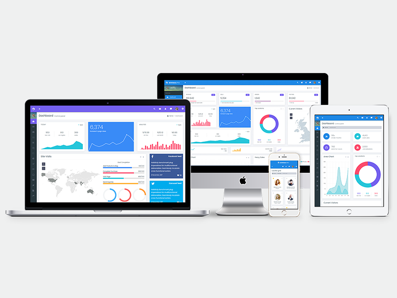 Minimal Responsive Bootstrap 4 Admin Dashboard Template