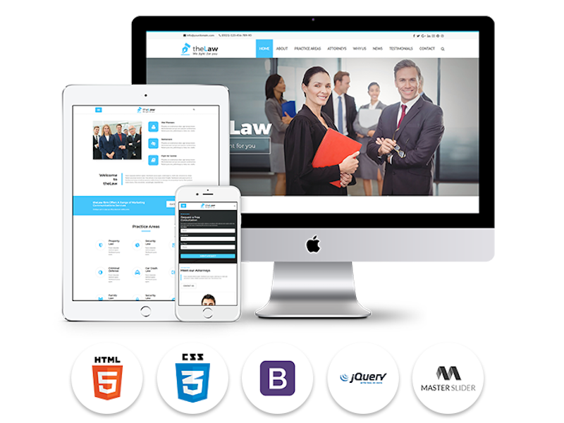 Responsive Website Template Law Firm - One Page by Dipesh Patel ...