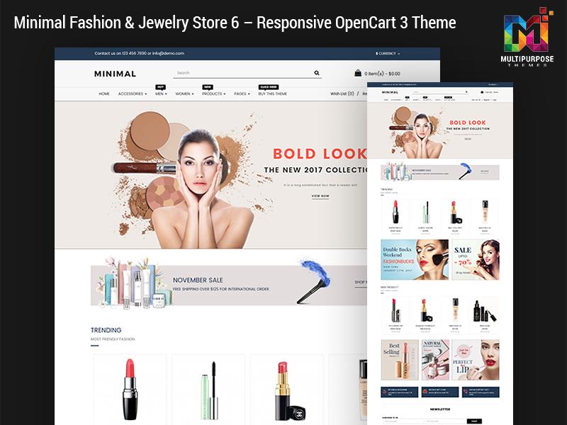 Responsive OpenCart 3 Theme - Minimal Fashion & Jewelry