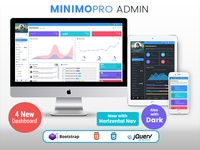MinimoPro - Responsive Bootstrap 4 & 3 Admin WebApp Template