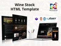Wine Stock Multi-Purpose eCommerce Shopping cart HTML Template