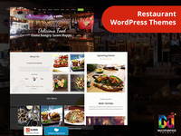 Restaurant/Cafe Responsive WordPress Themes