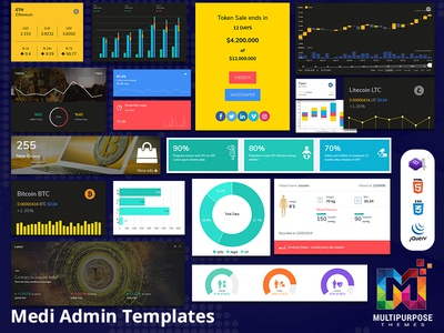Crypto Bootstrap Admin Templates For CryptoCurrency
