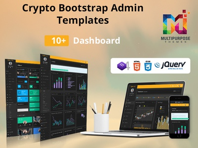 Crypto Bootstrap Admin Dashboard Template