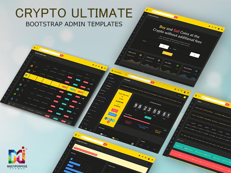 Crypto Ultimate Bootstrap Admin Templates bitcoin currency admin templates dashboard admin templates dashboard cryptocurrency crypto dashboard crypto admin crm