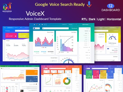 VoiceX Responsive Admin Dashboard Template