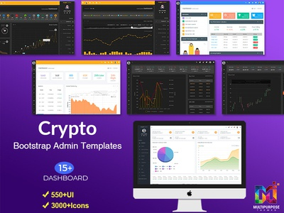 Crypto Admin - Bitcoin Dashboards + ICO