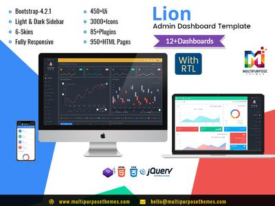 Lion Responsive Bootstrap Admin HTML Templates Bitcoin Dashboard